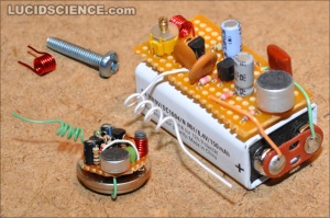 spy transmitter made from radio parts